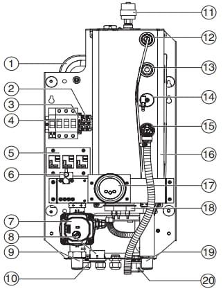 Схема котла Bosch Tronic Heat 3500 UA