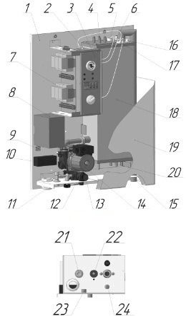 Схема котлов Leberg Eco-Heater