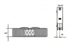 Схема радиатора Kermi FKO 22