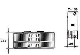 Схема радиатора Kermi FKO 33