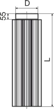 Схема дымоходной трубы-радиатора