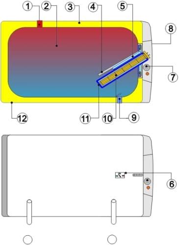 Схема водонагревателя Drazice OKCEV