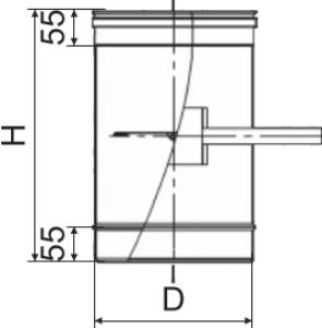 Схема регулятора тяги с нержавеющей стали Версия Люкс