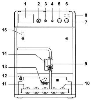 Схема газового котла Ferroli серии PEGASUS